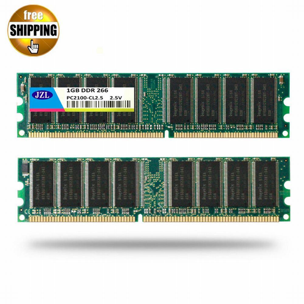 JZL Memoria PC-2100 DDR 266 MHz/PC2100 DDR266/DDR1 266 MHz DDR266MHz 1 GB LC2.5 184PIN non-ecc 2.5 V ordinateur de bureau DIMM mémoire RAM