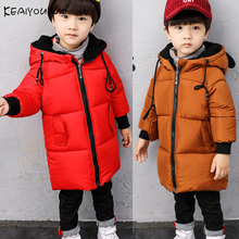 KEAIYOUHUO Cotton Coats Winter Boys Jackets Fashion Baby Boy Coats For Kids Outerwear Children Clothes Hooded Warm Coat For Boys