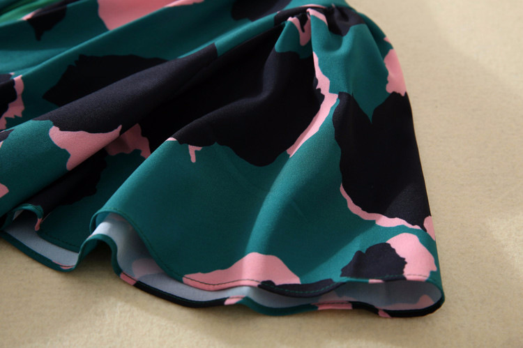 Robe Élégantes Volants Nouvelle Imprimé Taille Maxi À Manches Mode Femmes Camouflage Arrivée Haute Qualité Longue 2018 Automne lKFJT1c