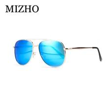 MIZHO Антибликовое HD Визуальный 2017 Медь UVB Женщины Солнцезащитные Очки Мужчины Поляризованные Овальные Вождения Мужская Металл Классический Очки Зеркало