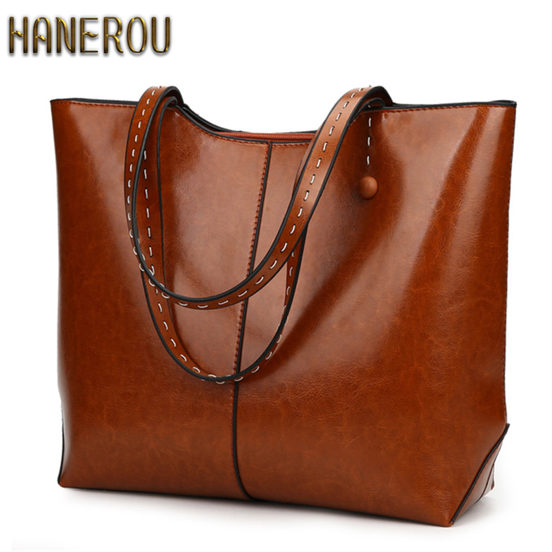 Autumn New PU Leather Women Bag Female Shoulder Bags 2018 New Vintage Designer Handbags High Quality Famous Brands Tote Bag women vintage bucket bag ladies casual pu leather handbags tote high quality messenger bags brands designer shoulder tassel bag