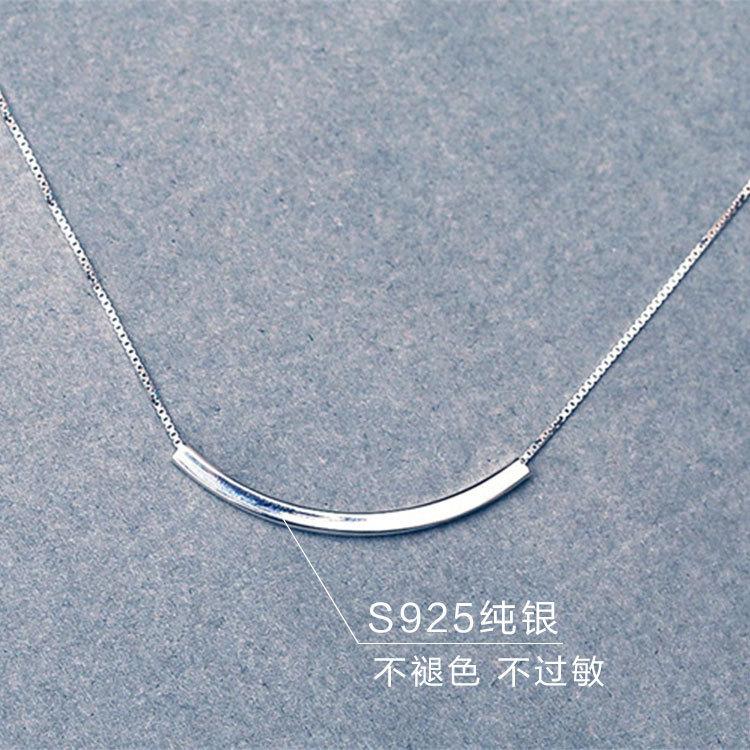 Drop Pengiriman 925 Sterling Silver Kalung Untuk Wanita Perhiasan - Perhiasan fashion - Foto 3