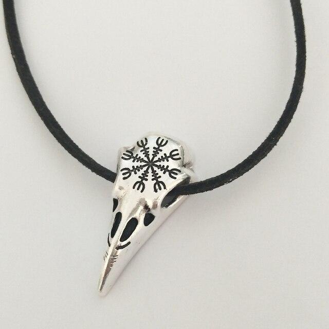 SUTEYI Fashion Viking odin nose symbol runic pendant necklace Viking Runes Vegvisir Compass jewelry of women Children gifts 1