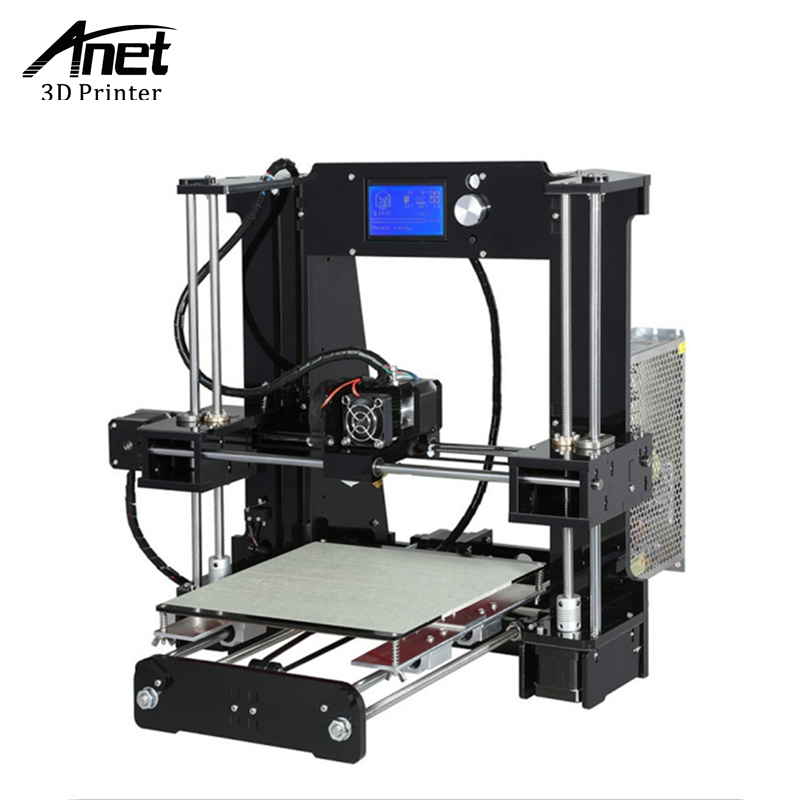 ANET New A6 3d printer Reprap Prusa i3 precision 1 Roll Kit DIY Easy Assemble Filament 16GB SD card LCD screen DIY 3d-printer high precision reprap prusa i3 3d printer diy kit bowden extruder easy leveling acrylic lcd free shipping sd card filament tool