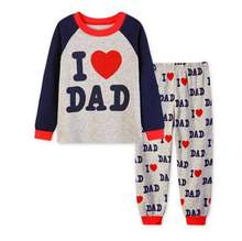 Baby girl boy suit children clothing set t shirt+pants I love DAD baby pajamas sleeping suits set cotton underwear Sets LP098(China)