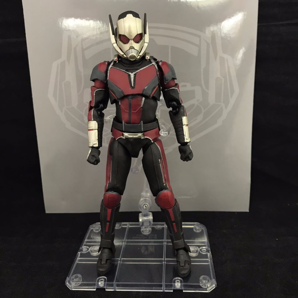 SHF S.H.Figuarts Civil War Captain America Super Hero Ant Man PVC Action Figure Collectible Model Kids Toys Doll 17cm new hot 17cm captain america civil war avengers super hero movable collectors action figure toys christmas gift doll with box