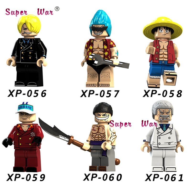 10Set Movie Series 4 Anime One Piece Tony Chopper Franky Luffy Dragon Ball Z Action building