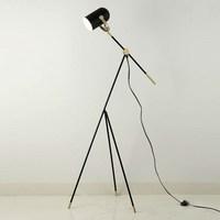 Лампа штатив торшер tripot тумбочке лампы китайский промышленный торшер черный металлический оттенок e27 лампа Домашнего Декора Освещения