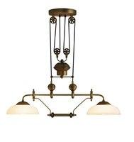 Подъемная подвесной светильник с шкив/Винтаж латунь/высокий потолок подвесные светильники/от потолка 2 м Макс/ 2 огни Стекло тени