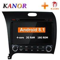 KANOR Android 8,1 4 ядра 2din автомобильный Радио плеер для кіа Cerato K3 2013 с Bluetooth радио навигации gps USB AUX WI FI