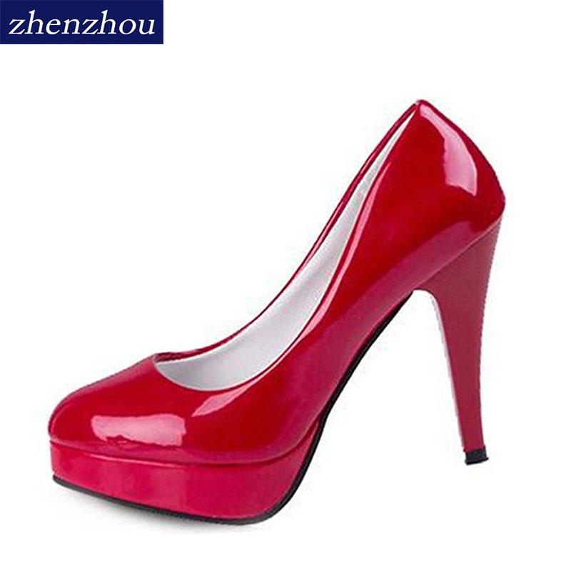 Pumps Women 's 2017 new sexy shallow mouth with fine pointed high heels waterproof shoes wedding shoes banquet shoe spring summer high heels 2016 korean thin heels with a fine pointed shallow mouth sexy wedding shoes wear comfortablesuede shoes
