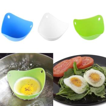 1PC Useful Safety Silicone Egg Poacher Egg Cups Boiler Cookware Microwave Egg Cooker Up Home Gadgets Egg Boiler