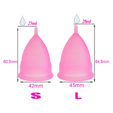 Feminine Hygiene Lady Cup Menstrual Cup Silicone Coppetta Mestruale