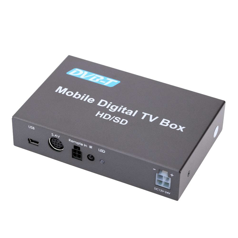 Vancago DVB-T Tuner Various Channel Mobile Car Digital TV Box TV Tuner High Speed 240km/h Strong Signal Receiver with 2 Antenna 1080p mobile car dvb t2 160 180km h double tuner h 264 mpeg4 mobile digital tv box tv receiver usb hdmi dvb t2 car tv receiver