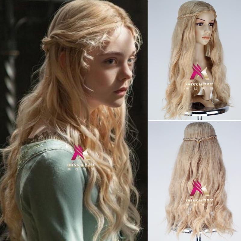 Movie Maleficent Princess Aurora Sleeping Beauty Wig Cosplay Wig Role Play Hair Halloween Cosplay