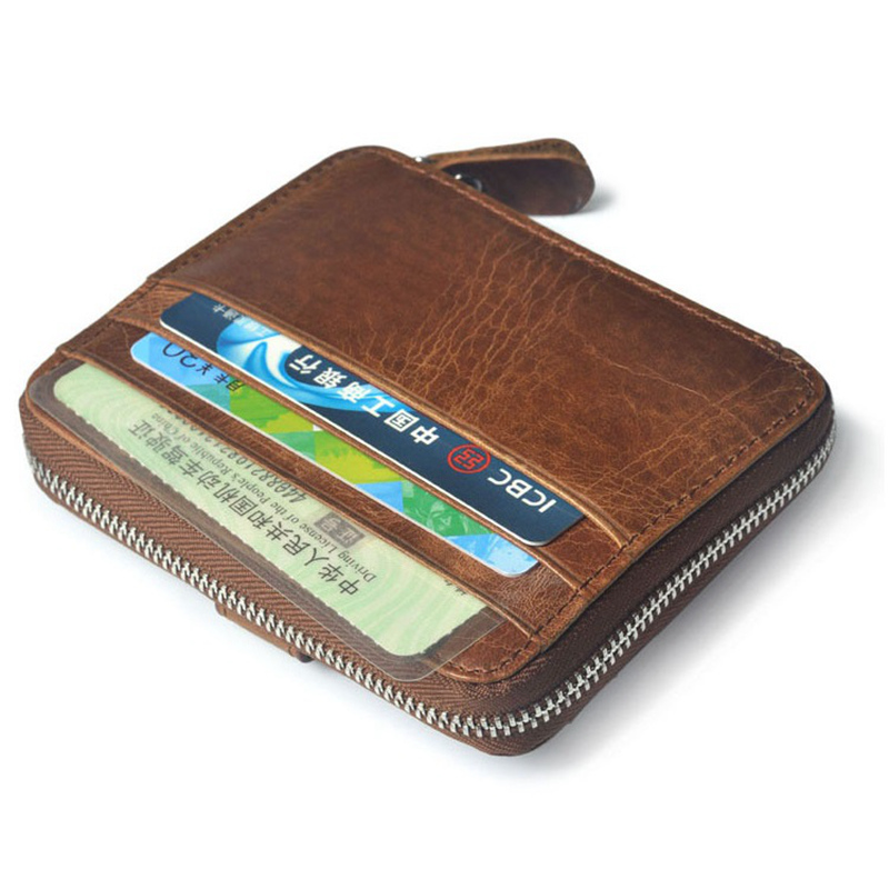 NEW Large Capacity Leather Credit Card Case Men Convenient