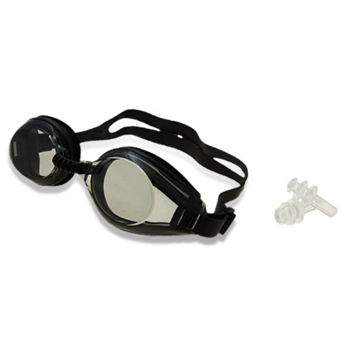JHO-Black Swim Swimming Water Silicone Pool Adult Goggles Eye Glasses Gift