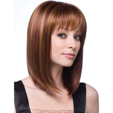 Wig Long Brown and Light Gold Women's Fashion Straight Hair Wig Wigs for Women American цена