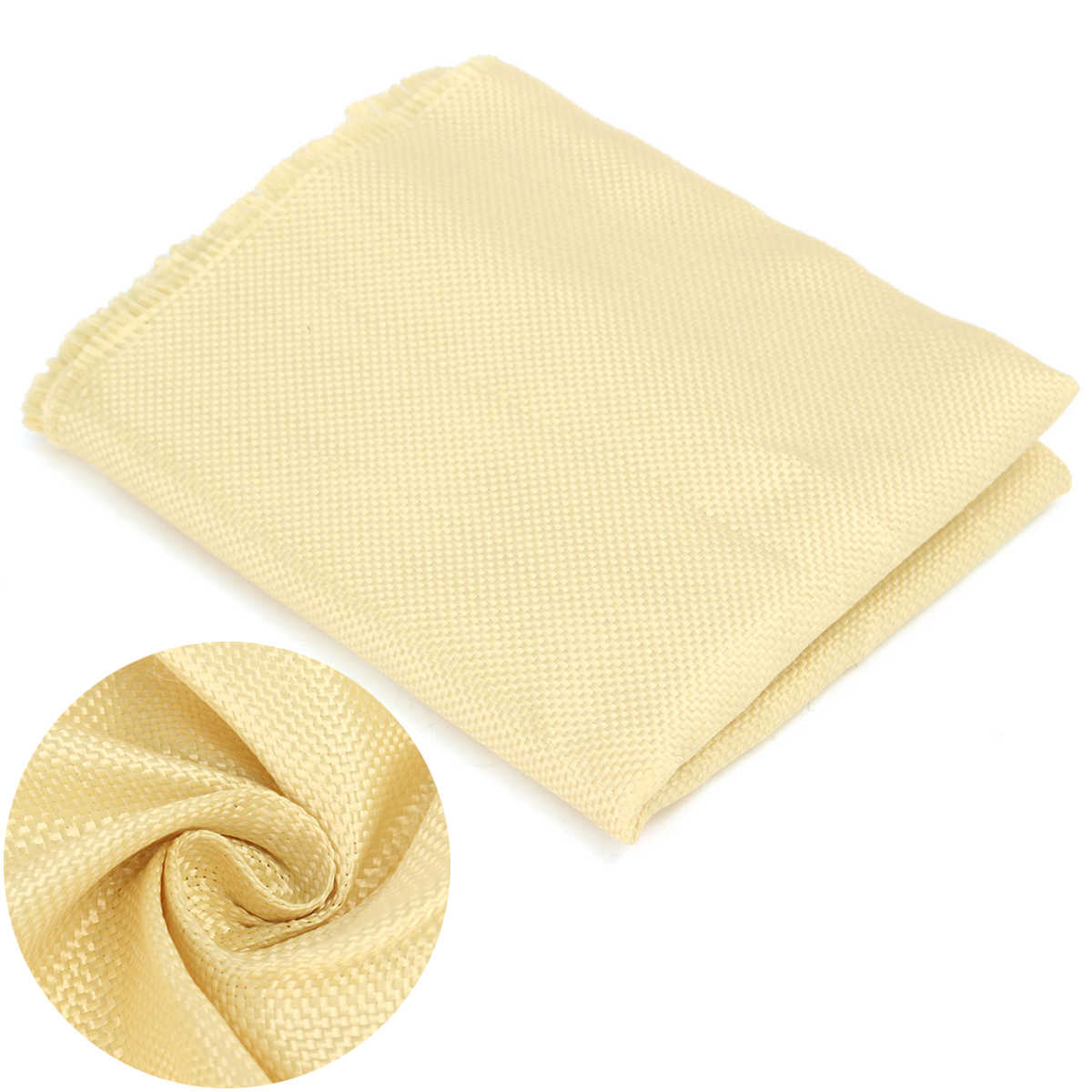 New 200gsm Woven Kevlar Fabric1100 Dtex Durable Plain Color Yellow Aramid Fiber Cloth Mayitr DIY Sewing Crafts 100cm*30cm