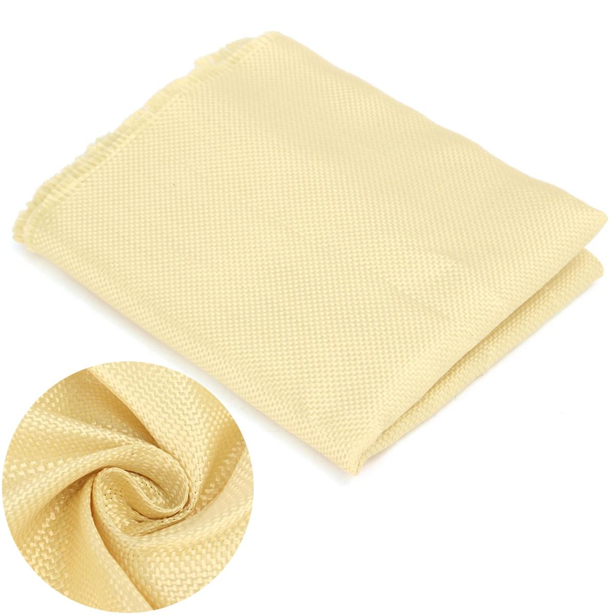 Novo 200gsm tecido kevlar fabric1100 dtex durável cor lisa amarelo aramida fibra pano mayitr diy costura artesanato 100cm * 30cm