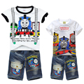 Baby boys Thomas Friends Clothing Set Children clothes T Shirt+ Short Jeans Pants 2-piece Sets kids Suit For 2 4 6 8 10 Years