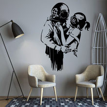 Hot Sale Banksy Graffiti Home Decor Modern Decoration For Kids Rooms Nursery Room Mural Wallstickers