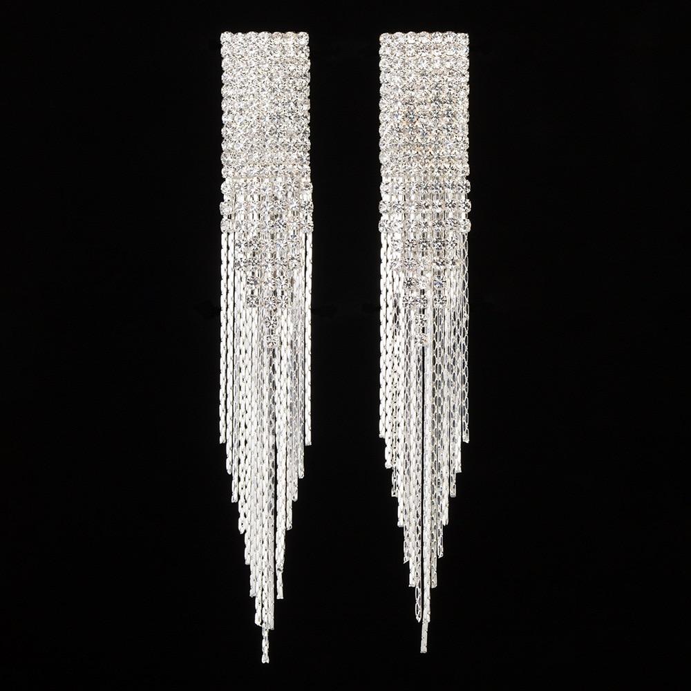 Women Sexy Drop Earrings Rock Zircon 925 Silver Crystal From Swarovskis Earring Party Fine Jewelry HipHop Brincos Jewelry