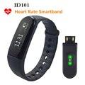 ID101 Muñequera Heart Rate Tracker Llamada/Mensaje Recordatorio Control Remoto Impermeable Sport Fitness Pulsera Fitbit Mi Banda PK 2