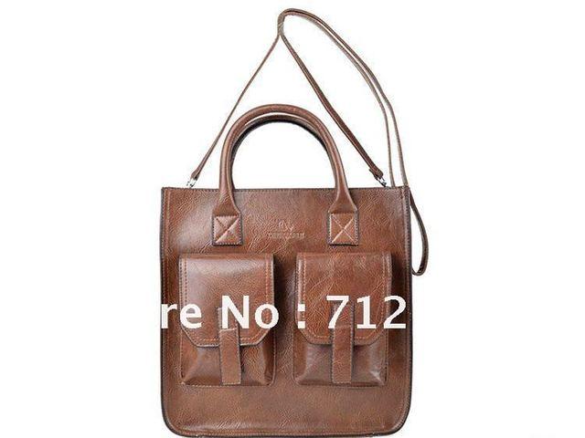 Free Shipping 2012 Fashion Europe Restore Ancient Oil Surface Shoulder Bag Handbag