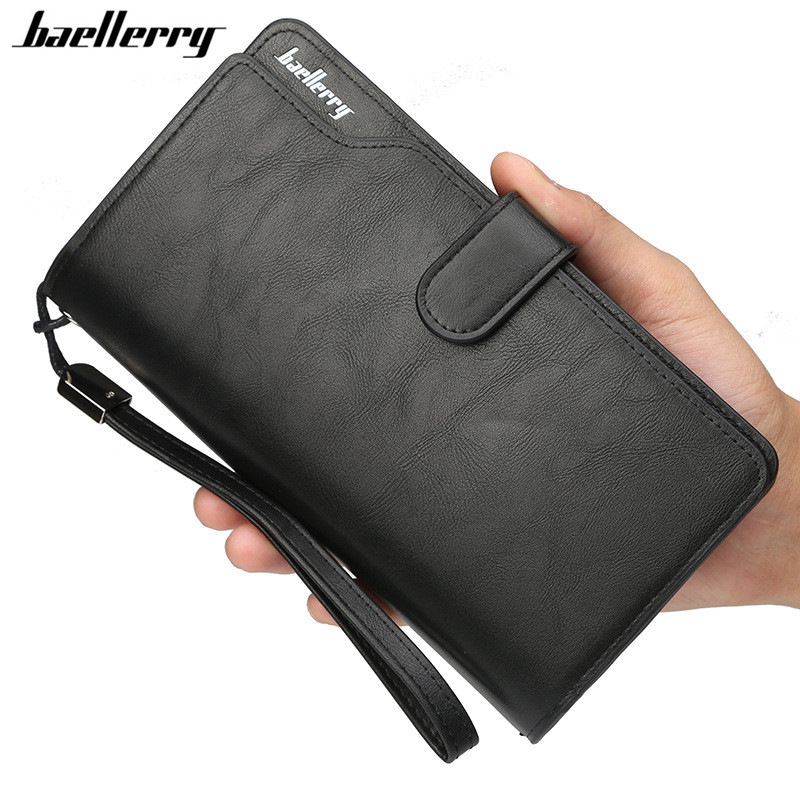 Baellerry Wallet Men Top Quality Leather Wallet Purse Fashion Casual Male Clutch Zipper Bag Brand Wallets Men Multifunction classic vintage top quality pu leather plaid wallet male bag brand men wallets handbag purse