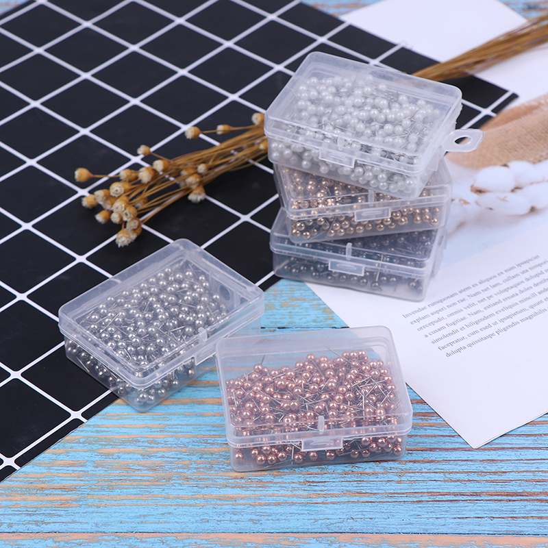 400 Pcs Round Plastic Head Steel Push Pins Map Mark Pin Office School Supplies