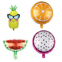 Food balloon Fruit balloons birthday party decorations kids Summer Party Supplies Children Toy Birthday Balons