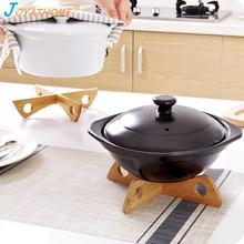 Joyathome Detachable Bamboo Heat Insulated Pad Kitchen Cooling Dish Bowl Pot Potholders Gadget Holder Anti-Hot Table