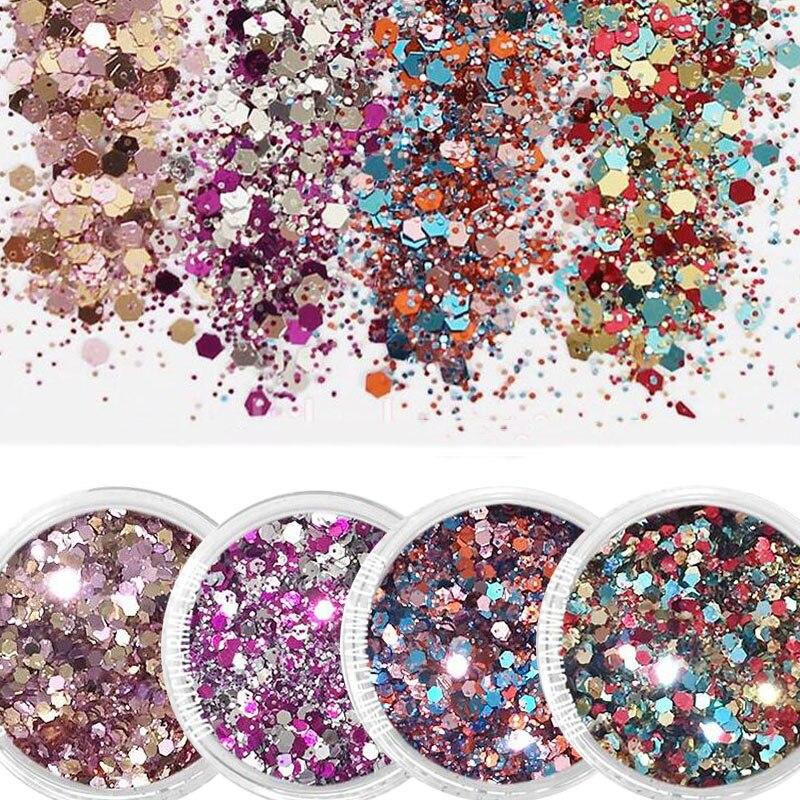 Schönheit & Gesundheit 1mm Lila Blau Gemischt Pulver Fein Glitter Pulver Für Nagel Dekoration Fmac1-2-5-8 Willensstark 10 Ml Nagel Glitter Mix Farbe Pulver Ultradünne