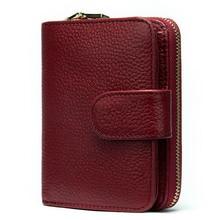 WESTAL 100% 短財布女性の本革の女性のコイン財布女性の財布革スリム/薄型財布カードホルダー 8608