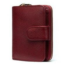 Westal 100% 짧은 지갑 여성 정품 가죽 숙녀 동전 지갑 여성 지갑 가죽 슬림/얇은 지갑 카드 소지자 8608