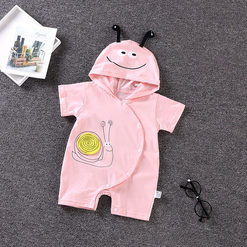Cartoon hoodie Baby Rompers Summer Baby Girl Clothes 2018 new Baby boys clothes Cotton Newborn Baby Clothes Roupas Bebe