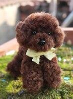 Cute Little Teddy Pompom Felt Kit With Keychain Woolen Thread Set Wool Needlepoint Felt Needle Felting
