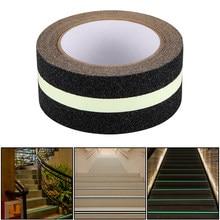 Brilho de fita antiderrapante de superfície fosco pvc na fita escura auto-adesivo luminosa fluorescente escadas passo passo fita de advertência de segurança