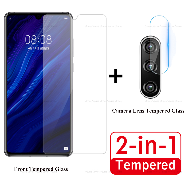 2 In 1 Tempered Glass For Huawei P30 Lite Screen Protectors And Camera Lens Glass For Huawei P30Lite P 30 Lite Protective Film
