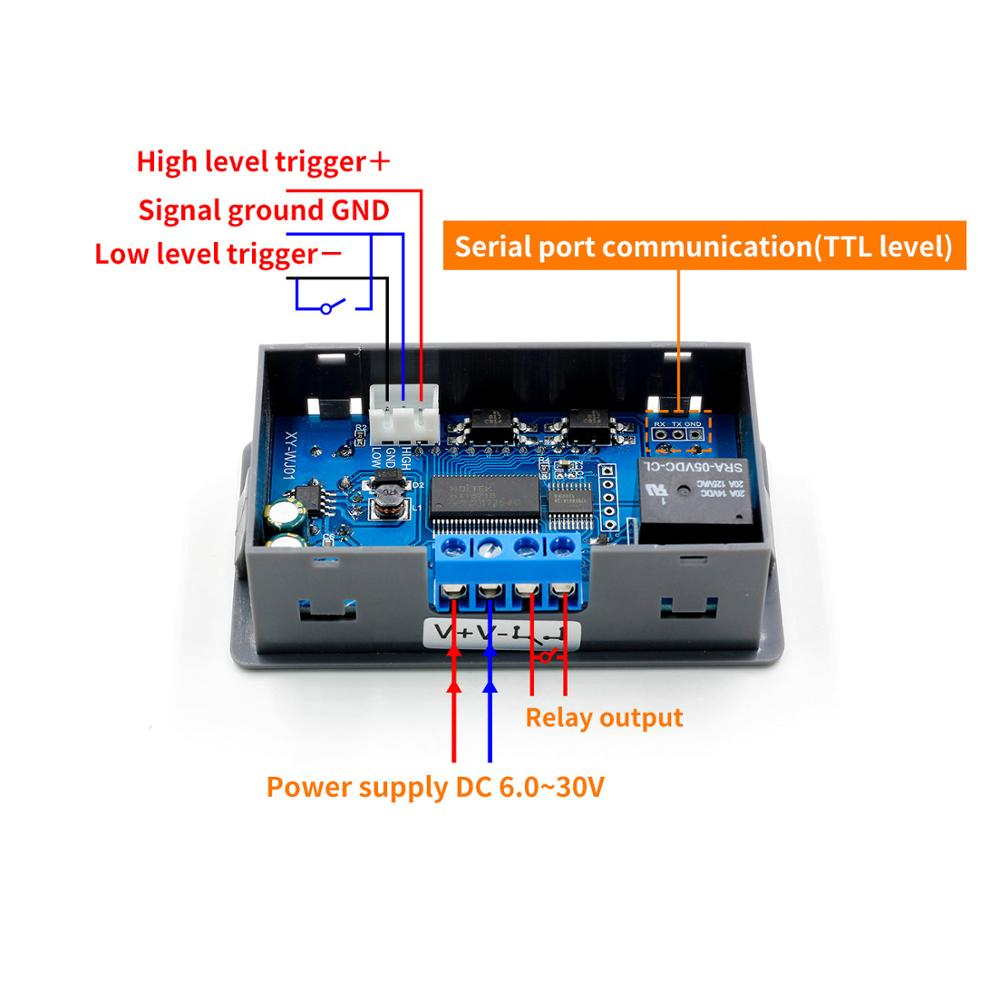 DC12V LED Digital Time Delay Relay Module Programmable Timer Relay Control Switch Timing Trigger Cycle with Case for Indoor Pakistan