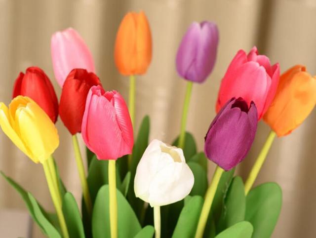 Lampada Fiore Tulipano : 20 pz lotto 62 cm lunghezza seta artificiale fiori di tulipano