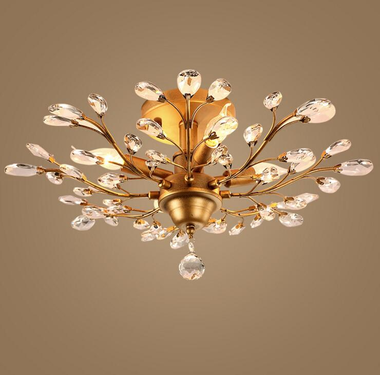 Wrought iron crystal ceiling lamp lighting restaurant lamps creative personality branches bedroom den living room retro LED lamp 13pcs hss cobalt drill set countersink hex drill bit high speed steel hex shank quick change 1 5 6 5mm power tools multi bits