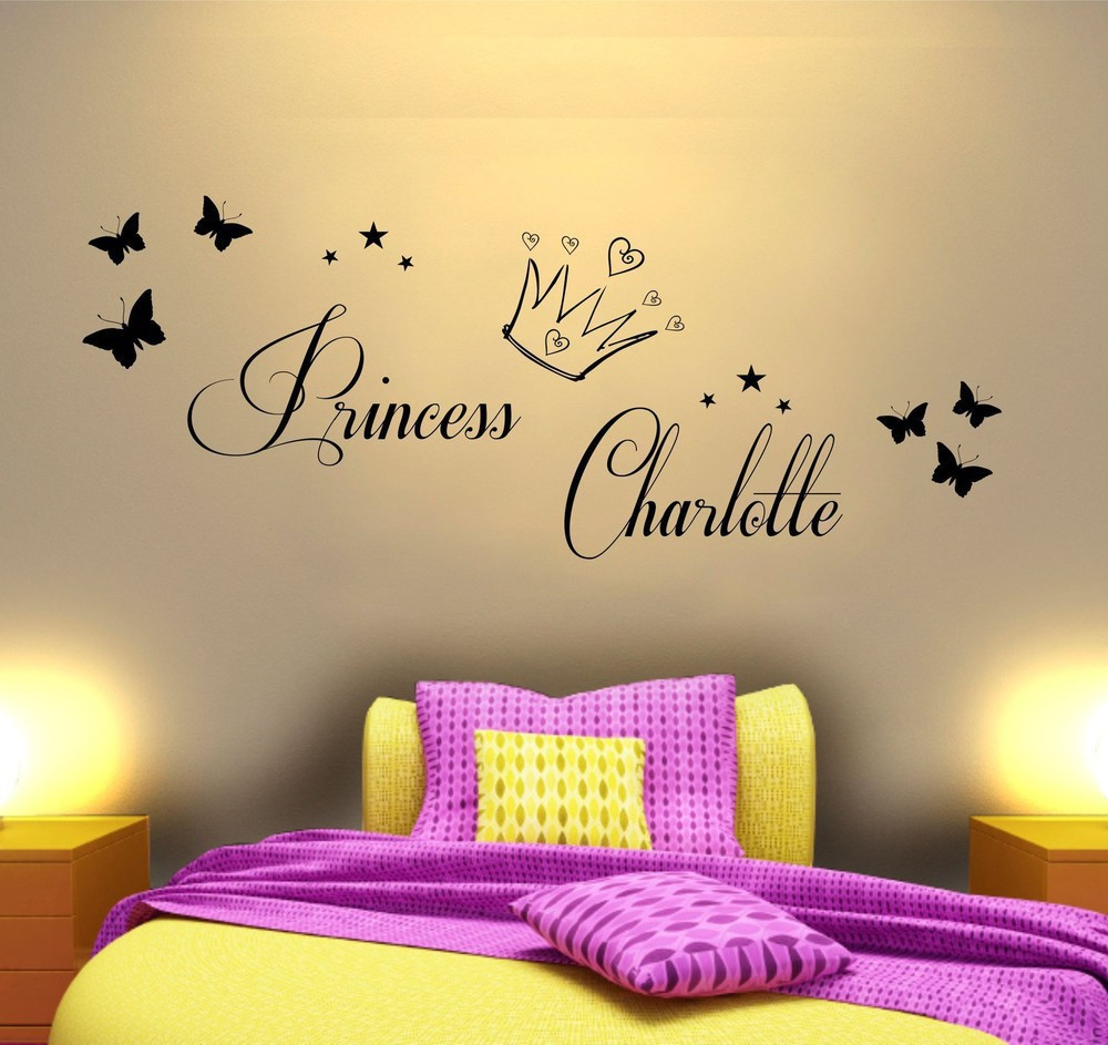 Customer made Personalized name Princess Easily removable Vinyl Wall ...