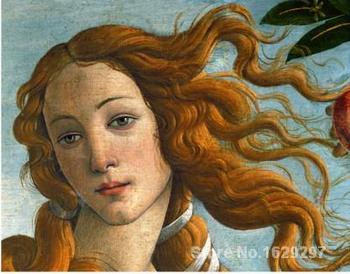 Modern painting on canvas HEAD OF VENUS Sandro Botticelli High quality Hand painted