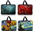 10.1 13.3 14 15.4 15.6 17.3 inch Van Gogh Notebook Laptop Tablet Sleeve Bag Case Carrying Handle Bag For Macbook Air/Pro/Retina
