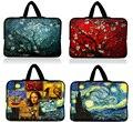 10.1 13.3 14 15.4 15.6 17.3 polegada de Van Gogh Notebook Tablet Laptop Sleeve Case Bag Bolsa de Transporte Alça Para Macbook Air/Pro/Retina