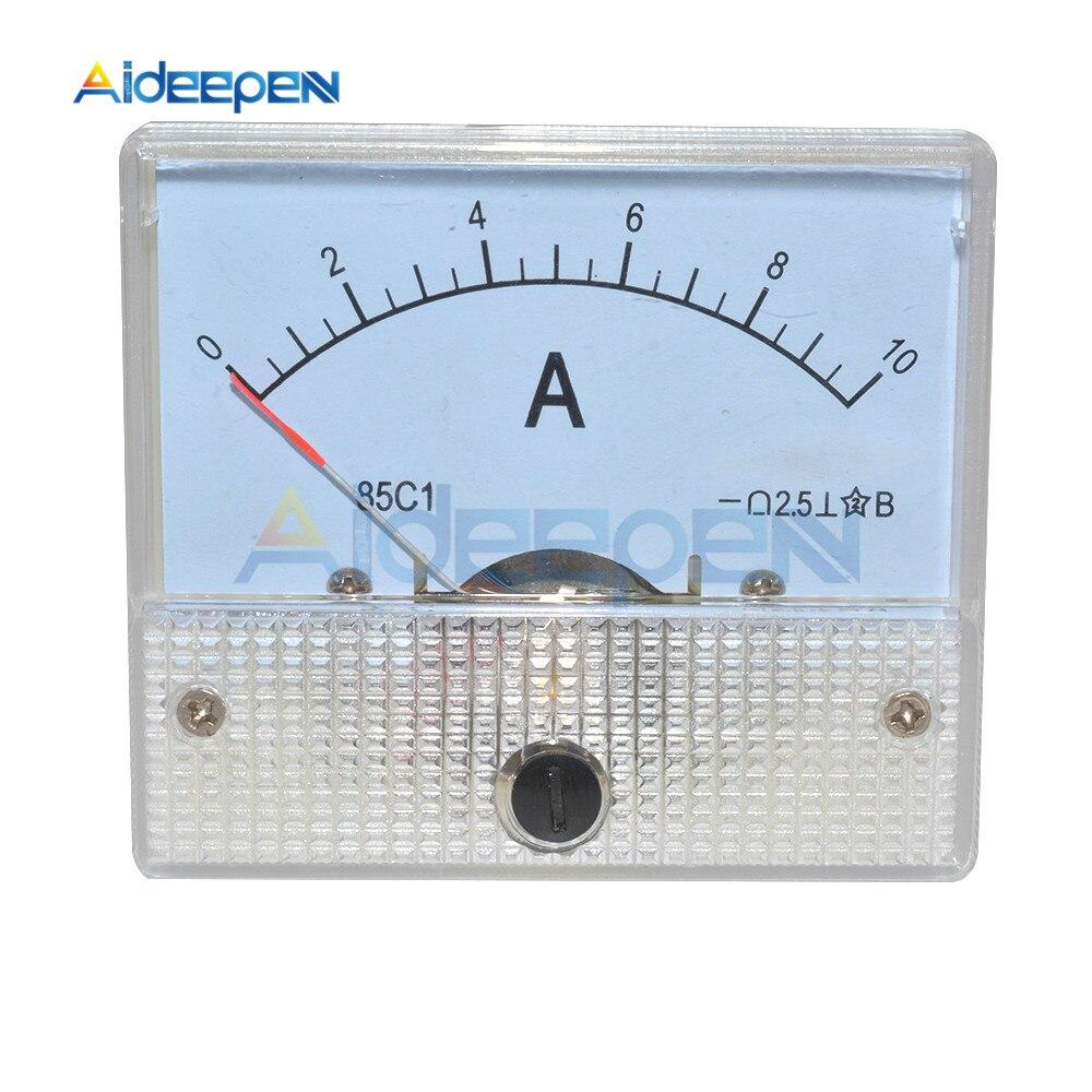 Аналоговая Панель измерителя тока постоянного тока 0-10 А, механический измеритель тока 85C1, амперметр