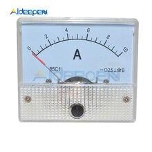 Analógico DC Panel de medición de corriente 0-10A calibre de amperios mecánica 85C1 amperímetro medidor de corriente