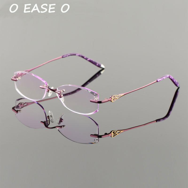 Getönte Asphereic Randlose purpurrot Hmc Objektiv Frauen Uv400 Optische 2017 1 61 Einschließlich Titan Rot Neue 9018 Emi rosa Koreanische Brillen Rahmen zf5cvwq